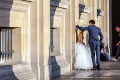 Walking around the Louvre, Paris (Matilda Diamant) Tags: paris city louvre people rusalka france french culture capital touristic tourists wedding bride