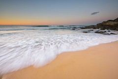 A Line in the Sand (Paul Hollins) Tags: aus australia newsouthwales newcastle newcastleeast seascape nikond750 nikon1635mmf4 rocks ocean watermovement