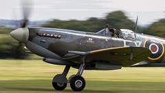 Spitfire Mk IX. TD314 / G-CGYJ. (Wally Llama) Tags: lashenden headcorn egkh supermarinespitfire spitfire warbird panning panningshot propblur canon7dmkii sigma150600 aerolegends parky
