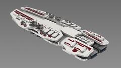 vesta1 (noblebun) Tags: lego space spaceship spacecraft battleship render homeworld