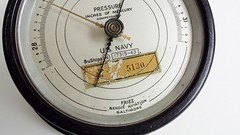 U.S. Navy barometer... 1943 (www.yashicasailorboy.com) Tags: usnavy 1940s barometer instrument weather meteorology pressure mercury bendix baltimore vintage ships marime military