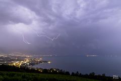 Orage sur Vevey (MarKus Fotos) Tags: lman landscape leman lac lake lightning lights lavaux lumires chablais orage orages foudre eclair clair clairs vevey montreux thunder thunderstorm thunderstrike nuages nuit nuage
