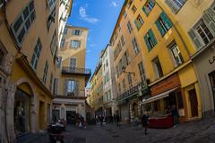 La Rue (lncgriffin) Tags: nice nizza france rpubliquefranaise europe europa carrieradougouvernou larue streetscene architecture vieilleville oldtown fisheye travel nikon d610 nikkor 16mmf28dfisheye