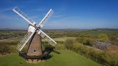 Wilton Windmill (Colin de Fraine) Tags: windmill wilton marlborough landscape aerial drone countryside fields bluesky structure buidling wind sails sunshine