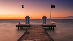 Baltic cabana (Stefan Sellmer) Tags: balticcoast balticsea benches cabana colors kiel stein water colorful jetty longexposure sunset schleswigholstein deutschland de