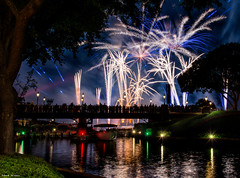 The Bridge (mwjw) Tags: disney disneyworld orlando florida epcot illuminations fireworks nightshot longexposure mwjw markwalter nikond800 nikon24120mm