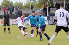 Mark Burbidge gets a shot away on the edge of the box (Stevie Doogan) Tags: clydebank glasgow perthshire exsel group sectional league cup wednesday 10th august 2016 holm park