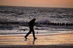 Sundown catch (Dannis van der Heiden) Tags: sundown walcheren vlissingen zeeland netherlands fishing catch goldensky beach rod ficherman sea beachpoles waves summertime summer sigma18300mm slta58