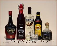 Coffee morning ( Freddie) Tags: spirit alcohol tiamaria toppersrhum toppers rhum smirnoffexpresso smirnoff vodka kahlua patrntequila patrn tequila coffeeliqueur fjroll mochamama