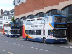 Stagecoach Yorkshire 17009 Chesterfield (Guy Arab UF) Tags: stagecoach yorkshire 17009 1975he 1999 dennis trident alexander alx400 bus new beetwell street chesterfield derbyshire buses south west s809bwc east london ta9