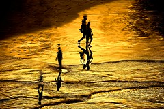 On the beach - Tel-Aviv (Lior. L) Tags: onthebeachtelaviv silhouettes reflections goldenhours golden people telaviv telavivbeach beach sea israel walking