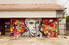 45030003 (alexdotbarber) Tags: 1125 35mm andywarhol c41 houstonstreetart kodakgold100 pentaxk1000 slr smcpentaxm50mmf2 analog colornegative f8 mural
