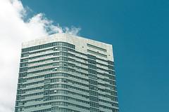 Varyap Meridian (unluonur) Tags: architecture building skyscraper sky bluesky blue cloud istanbul ataehir d7000 nikon nopeople meridian outdoor minimal minimalism europe