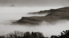 Wee Cumbrae Mists (rsthomas9) Tags: sea bw mist seascape water monochrome fog landscape island scotland clyde millport ailsacraig cumbrae firthofclyde
