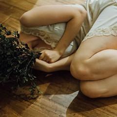 Chlorophyll (tiffanytremaine) Tags: selfportrait plant film girl nude nikon boudoir fineartphotography