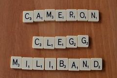 Cameron / Clegg / Miliband Scrabble (jeffdjevdet) Tags: david game west ed sussex photo worthing image nick stock free east cameron scrabble spelling blocks clegg miliband freeimage