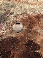 Clay pot irrigation