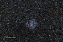 Rosette Nebula (NGC 2237) (Oddiseis) Tags: longexposure stars ngc nebula astronomy hii astrophoto monoceros ngc2237 ngc2244 leicavarioelmarr8020040