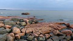 A seashore view from the southern shore of Sirpalesaari island (Helsinki, 20150405) (RainoL) Tags: sea seascape finland geotagged helsinki rocks balticsea boulders april helsingfors fin ullanlinna seashore uusimaa 2015 sirpalesaari ulrikasborg flisholmen 201504 20150405 geo:lat=6015141698 geo:lon=2494265557