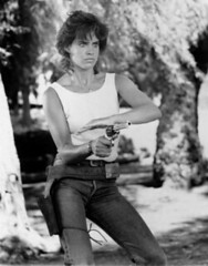 Catherine Mary Stewart (A Gun & A Girl.) Tags: girls muscles blood arms shots guns biceps bullets sexygirls gunshots shootingguns bulletwounds sexyguns femaleswithguns