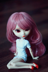 Persephone (teatimealchemist) Tags: pink red eyes doll wig groove pullip stica rewig