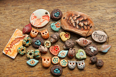 Polymer Clay Beads and Jewellery Components (Oakley Studio) Tags: beads earthy charms artisan pendants artbeads polymerclaybeads polymerclayartist natureinspired owlbead braceletbar birdbead polymerclaybird rusticbeads oakleystudio