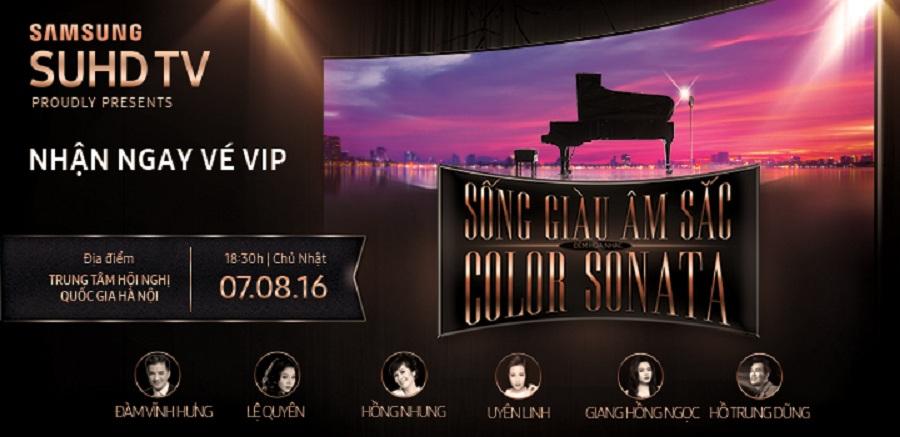 Mua Samsung SUHD/UHD/CURVED tại Trần Anh: Nhận ngay vé mời VIP tham dự đêm nhạc Sống Giàu Âm Sắc