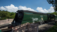 Harmans Cross Station 13 (Matt_Rayner) Tags: swanage railway 34070 manston sr battle of britain class steam train