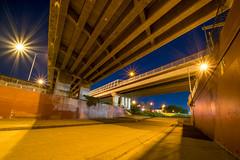 Floodway 2, Brisbane (stephenk1977) Tags: australia queensland qld brisbane greenslopes floodway spillway norman creek ck busway pacificmotorway bridge veloway v1 night concrete nikon d3300