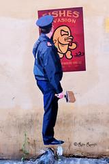 Roma. Trastevere. Street art by Fishes Invasion-Merio (R come Rit@) Tags: italia italy roma rome ritarestifo photography streetphotography streetart arte art arteurbana streetartphotography urbanart urban wall walls wallart graffiti graff graffitiart muro muri streetartroma streetartrome romestreetart romastreetart graffitiroma graffitirome romegraffiti romeurbanart urbanartroma streetartitaly italystreetart contemporaryart artecontemporanea poster posterart colla glue paste pasteup merio fishesinvasion trastevere