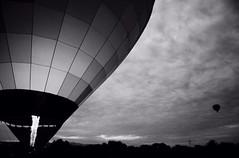 Hot air balloon before taking off (Kaori Fonseca) Tags: mexico sanmigueldeallende d7100 nikon travel landscape bw blackandwhite hotairballoon