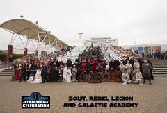 Star Wars Celebration Europe 3 Group Photos -  501st, Rebel Legion and Galactic Academy (AdinaZed) Tags: star wars celebration europe 3 three group 501st 501 rebel legion galactic jedi news academy