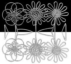 3 flowers reflected (muffett68 ) Tags: slidersunday picmonkey wire