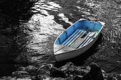 Blue boat (Insomnious247) Tags: water boat rocks victoria gorge victoriabc blueboat victoriabccanada vancouverislandbc gorgevictoriabc insomnious247 coffeepleaze