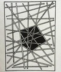 (ElDel777) Tags: doodle atc blackandwhite inkdrawing drawing art sticks 3d abstract moleskine sketchbook