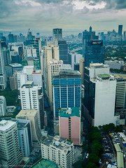 Makati, Manila - view from 42nd floor (ravi_pardesi) Tags: urban beautiful beauty skyline clouds skyscraper buildings amazing cloudy top awesome highrise serene offices businesses urbanscape awesomeness highfloor