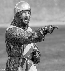 'You took my last cookie' (Dave_G_Stewart) Tags: london toweroflondon towerbridge medieval knights fighting action history defending attack bw canon eos5mkiii 400mm