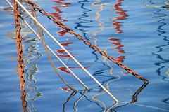 chains and reflections (Jeanne Menj) Tags: chains reflections cordes ropes marseille vieuxport