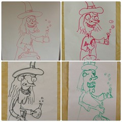 Doodle school - Halloween witch (the ghost in you) Tags: nightmarebeforechristmas timburton pikachu pokemon witch witches halloween kids drawing doodles ghostbusters pizza homer homersimpson simpsons