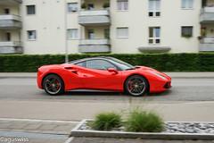 Ferrari 488 GTB (aguswiss1) Tags: red racecar fast ferrari elegant panning luxury supercar sporty sportscar gtb bicolor luxurycar 488 trackcar veryfast 200mph tracktool ferrari488gtb