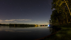 Big Dipper over Lake Bloomington (Gregg Kiesewetter) Tags: lakebloomington illinois stars bigdipper northstar polaris longexposure timber point