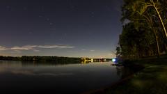 Big Dipper over Lake Bloomington (Gregg Kiesewetter) Tags: lakebloomington illinois stars bigdipper northstar polaris longexposure timber point