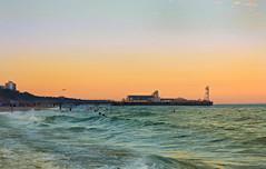 Bournemouth pier sunset.....Explored. (cobby31 .) Tags: bournemouthpier bounremouthbeach sea seaside beach play