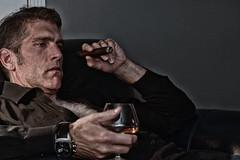 Long Day... (Octane Photo) Tags: men cigar cigars scotch hairychest hairymen