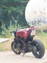 P1200502 (O.Th Photographie) Tags: fighter motorrad blutwurst prchen industrie alt ps gefhrlich grafiti look badboy elbside fighters