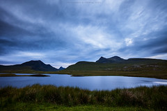 Lochan an Ais (Premysl Fojtu) Tags: roadtrip coast west scotland mainland uk loch lochananais beautiful nature scenery dusk goldenhour longexposure twilight mountains hills beauty breathtaking culmor culbeag wilderness sky dramatic clouds cloudy mood atmospheric atmosphere canon dslr eos 5dmkii fullframe ef1740 wideangle grass landscape calm weather colours blue rural countryside country dreamscape evening summer july 2016