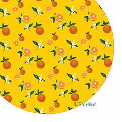 Oranges_pattern1 (SteelNat) Tags: узор орнамент паттерн цветы апельсин оранжевый steelnat pattern flower orange ornament