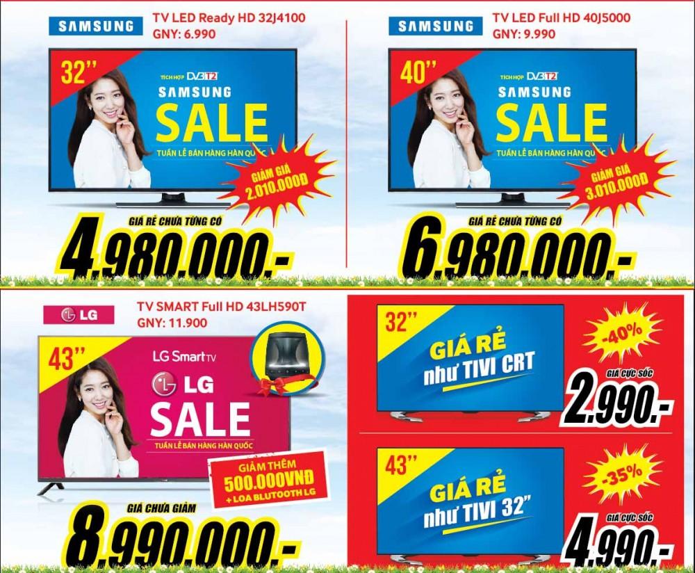 Tuần lễ khuyến mại vàng bán hàng Hàn Quốc tại MediaMart