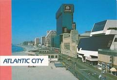 Atlantic City postcard mid 1980's (tehshadowbat) Tags: