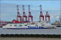 Port of Liverpool 4th August 2016 (Cassini2008) Tags: portofliverpool liverpool rivermersey stenaline stenalineferrystenalagan stenalagan belfasttobirkenhead ferry